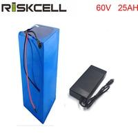 Бесплатная доставка 60 вольт 3000 Вт перезаряжаемый 60В 25ah литий ионный аккумулятор с BMS и зарядным устройством