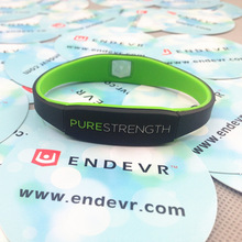 3pcs/lot New arrival purestereth power bangle energy silicone wristband endevr negative ion balance bracelet