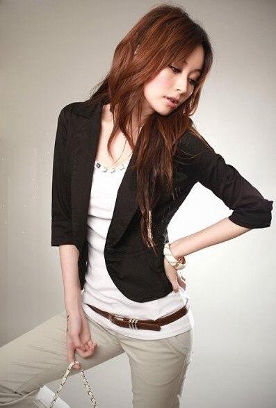 2016 blazer women autumn lady code seven quarter ol fashion Slim small suit wholesale Women Suit Blazer Foldable Brand Jacket