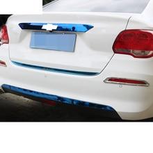 Lsrtw2017 Stainless Steel Car Tail Door Trunk Strip Strims for Chevrolet Cavalier 2017 2018 2019 2020