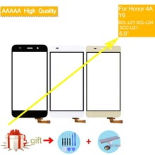цена на For Huawei honor 4A SCL-L01 SCL-L04 SCC-U21 Y6 Touch Screen Touch Panel Sensor Digitizer Front Glass Touchscreen NO LCD