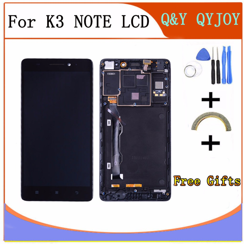 Q&Y QYJOY For Lenovo K50 K50-T5 K3 Note LCD Display Touch Screen Digitizer Assembly with Frame Replacement K3 Note Display