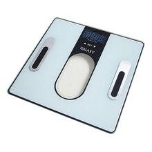 Весы напольные Galaxy GL 4852 (Максимальный вес 180 кг, цена деления 100 г, стеклянная платформа, ЖК-дисплей, определение уровня воды, жировой, мышечной и костной массы, автовыключение)
