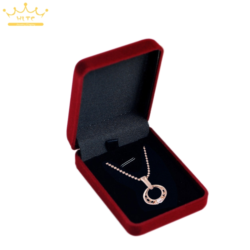 12pcslot Red Velvet Jewelry Box For Necaklace Pendant Display