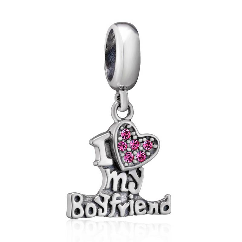 Choruslove I Love my Boyfriend Husband Charm Jesus Music Bead 925 Sterling Silver Beads Fit Pandora Charms DIY Bracelets Jewelry in Charms from Jewelry Accessories