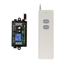 3000m DC 9V 12V 24V 1 CH 1CH RF Wireless Remote Control Switch System,315/433 MHZ Transmitter + Receiver,Latched (A=ON B=OFF) free shipping 12v 1ch wireless remote control switch system 8pc transmitter