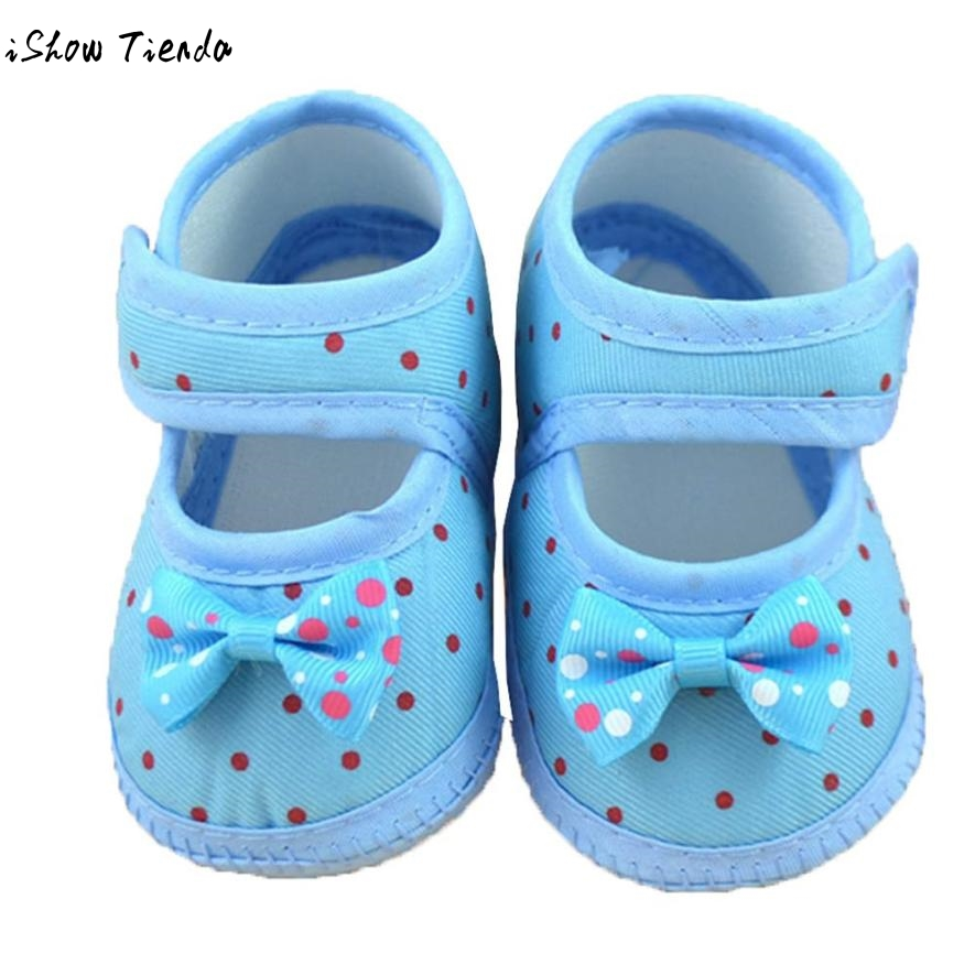 2018 Spring Newborn Baby Shoes Baby Sneakers Bowknot Baby Girl First Step Shoes Soft Crib Infant Shoes