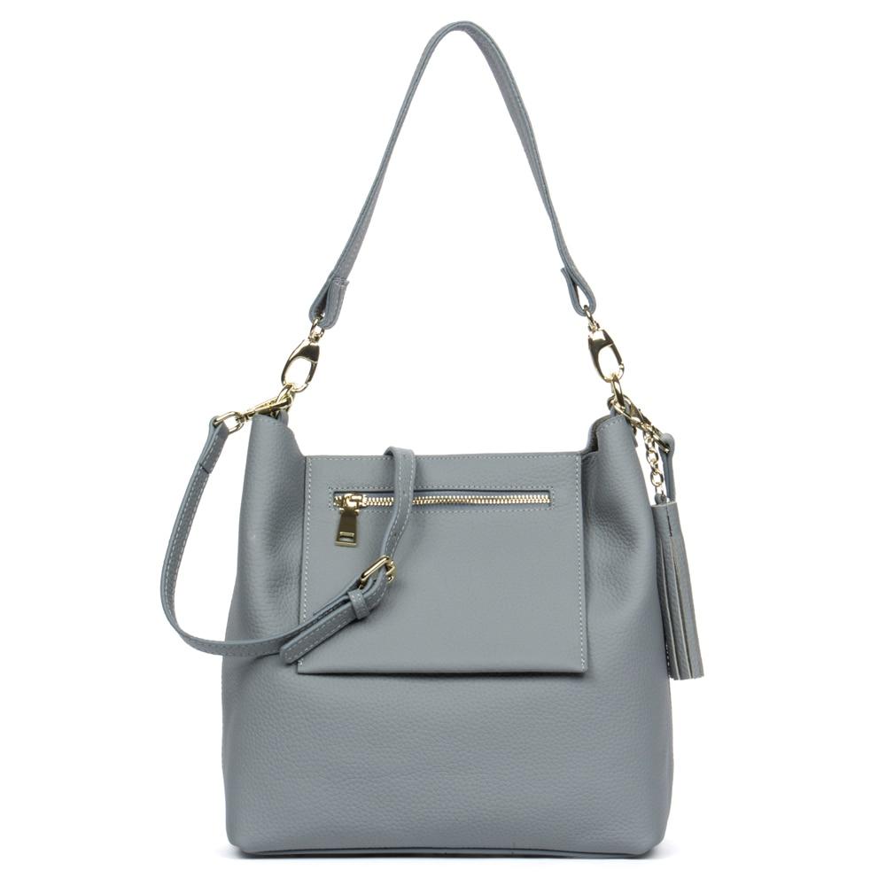 ФОТО Women shoulder bag brand genuine leather women crossbody shoulder bag with detachable interior bag and flap zipper front pocket