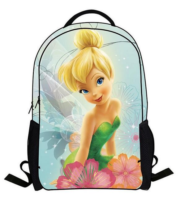 16-Inch Mochila Escolar Teenage Girls Bags Children Backpack Tinker Bell Fairies Print Kids Cartoon School Bags