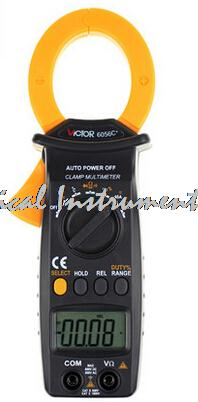 ФОТО Fast arrival VICTOR 6056C + VC6056C + 3-3 / 4 Digital Clamp Meter Non-contact measurement Jaw open 35mm