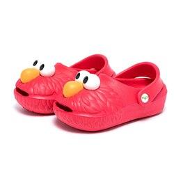 2018 Summer Cartoon Elmo Kids Shoes Clogs Mules Cookie Monster Boys Girls Beach Sandals Children Casual Shoes