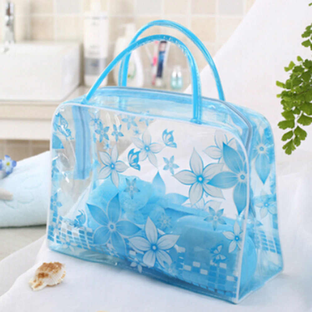 1 pcs Transparant Draagbare Cosmetische Tas Waterdichte Vrouwen Make-Up Tas Ondergoed Make Up Drug Organizer Bag HOT VERKOOP