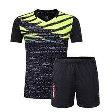 Пользовательский Бадминтон футболка+ шорты, мужские/женские комплекты одежды для тенниса, одежда для настольного тенниса рубашка, теннисные/настольные теннисные костюмы