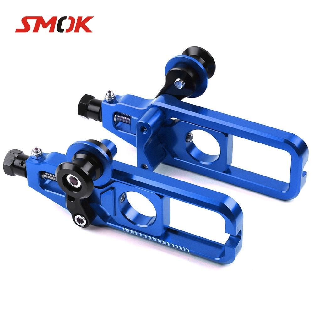 цена на Motorycle CNC Aluminum Chain Adjuster Tensioners With Swing Arm Spool For Yamaha MT10 MT-10 2016-2017 YFZ R1 YFZ-R1 2015-2017