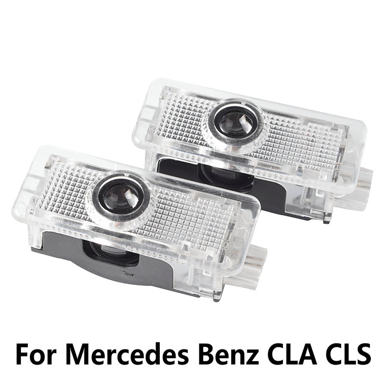 2pcs LED Car Door Welcome Light for Mercedes Benz CLA CLS c218 w218 a207 c207 c117 AMG Logo Laser Projector Ghost Shadow Light-in Car Stickers from Automobiles & Motorcycles