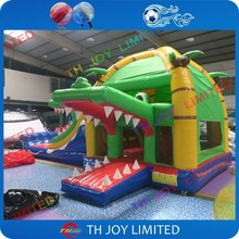 Free air shipping to door!8*4*3.5mH crocodile Inflatable Bouncer Cheap Commercial Bounce Houses For Sale Bouncy Castles For Sale