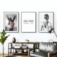 Black and White Modern Fashion Beauty Model Women Home Decor Canvas Painting Lips Wall Pictures Living Room Art Posters Print