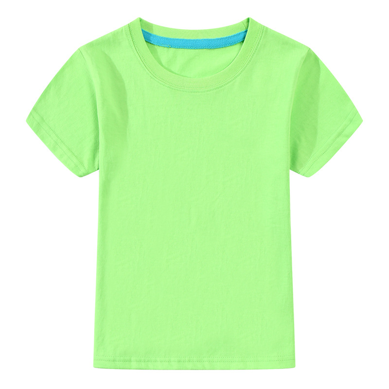 T-shirt For Boys Girls Summer Tees Solid Color Tops For 3-12T Children Teens Summer Clothing A101 Short Sleeve Cotton T-Shirt stylish solid color batwing sleeve asymmetrical tops for women