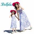 2017 лето мать дочь платья мода чешского мама и дочь платье мать дочь соответствующие наряды пляж платья