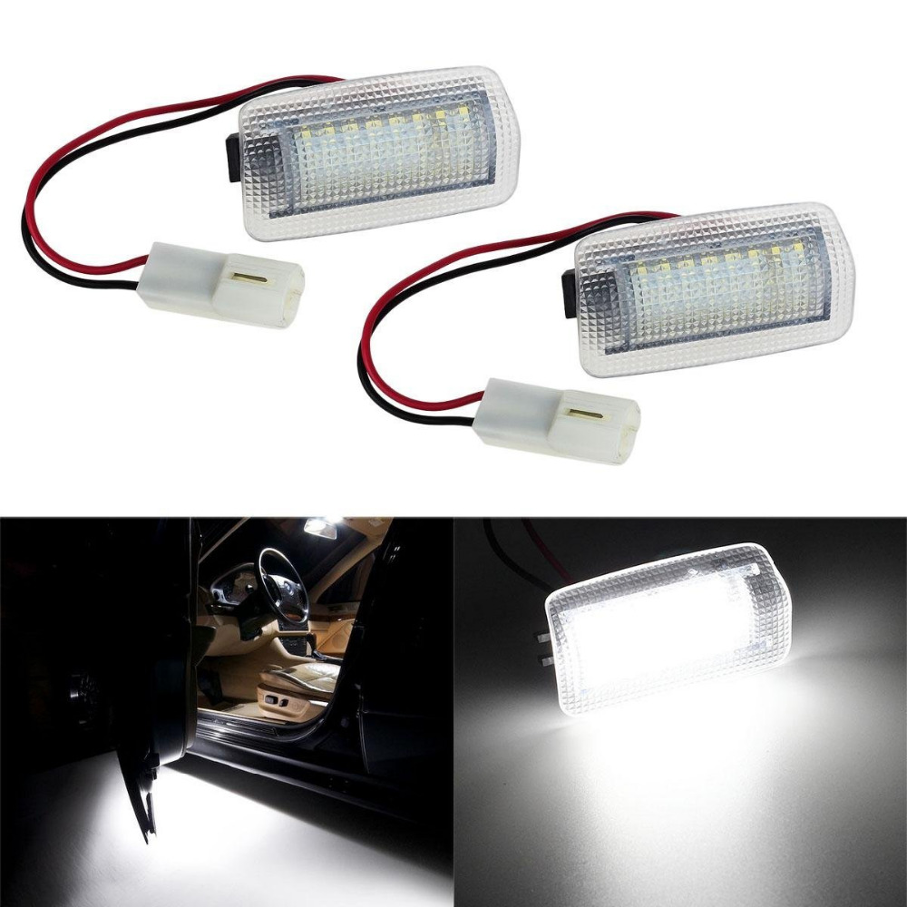 2Pcs 18SMD Super Bright Led Step Courtesy Lights Footwell