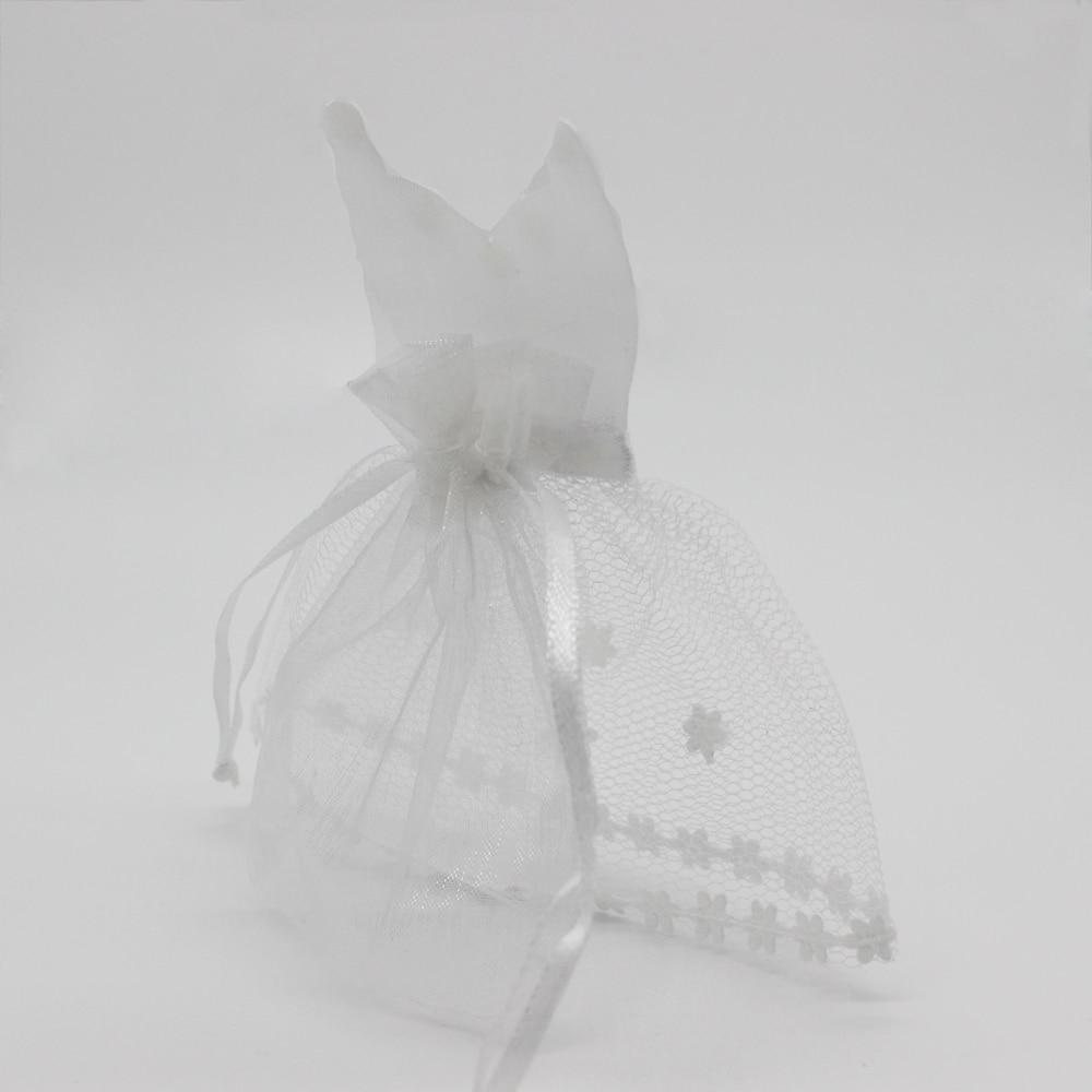 50 Pieces Organza Drawstring Candy Bag 25* Tuxedo & 25* Dress Bride ...