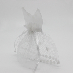 Image 4 - 50 Pieces Organza Drawstring Candy Bag 25* Tuxedo &  25* Dress Bride Groom Wedding Favors Party Gift Bag WB06