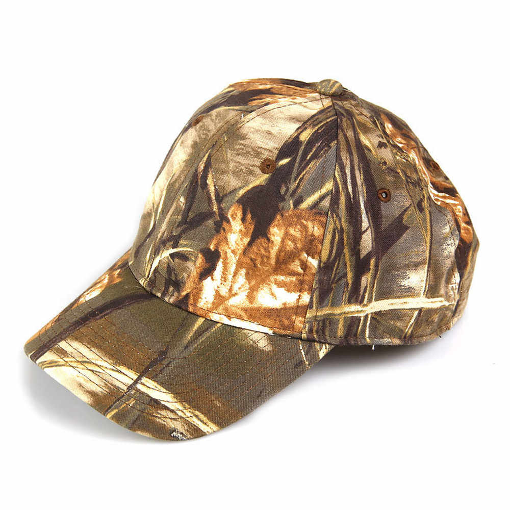 2d2f8e270ea1c 5 Colors Available Camouflage Unisex Hunting Baseball Cap Fishing Tactical  Outdoor Bionic Camo Peaked Cap Sunshade