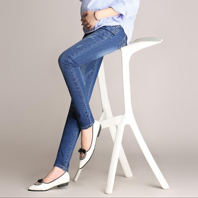 2016 de inverno calças skinny jeans maternidade para as mulheres grávidas gravidez plus size maternidade roupas de cintura alta calças barriga cuidado