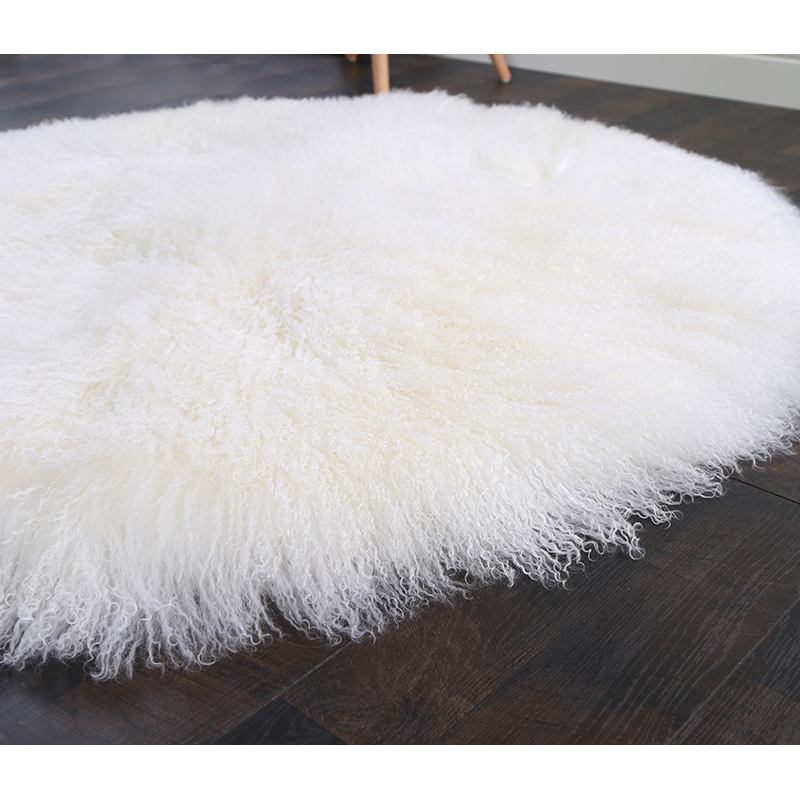 Us 78 02 17 Off Cx D 76 Real Mongolian Lamb Fur Sheepskin Blanket Luxury Rectangle Round Area Rug Decor Home In Blankets From Garden On