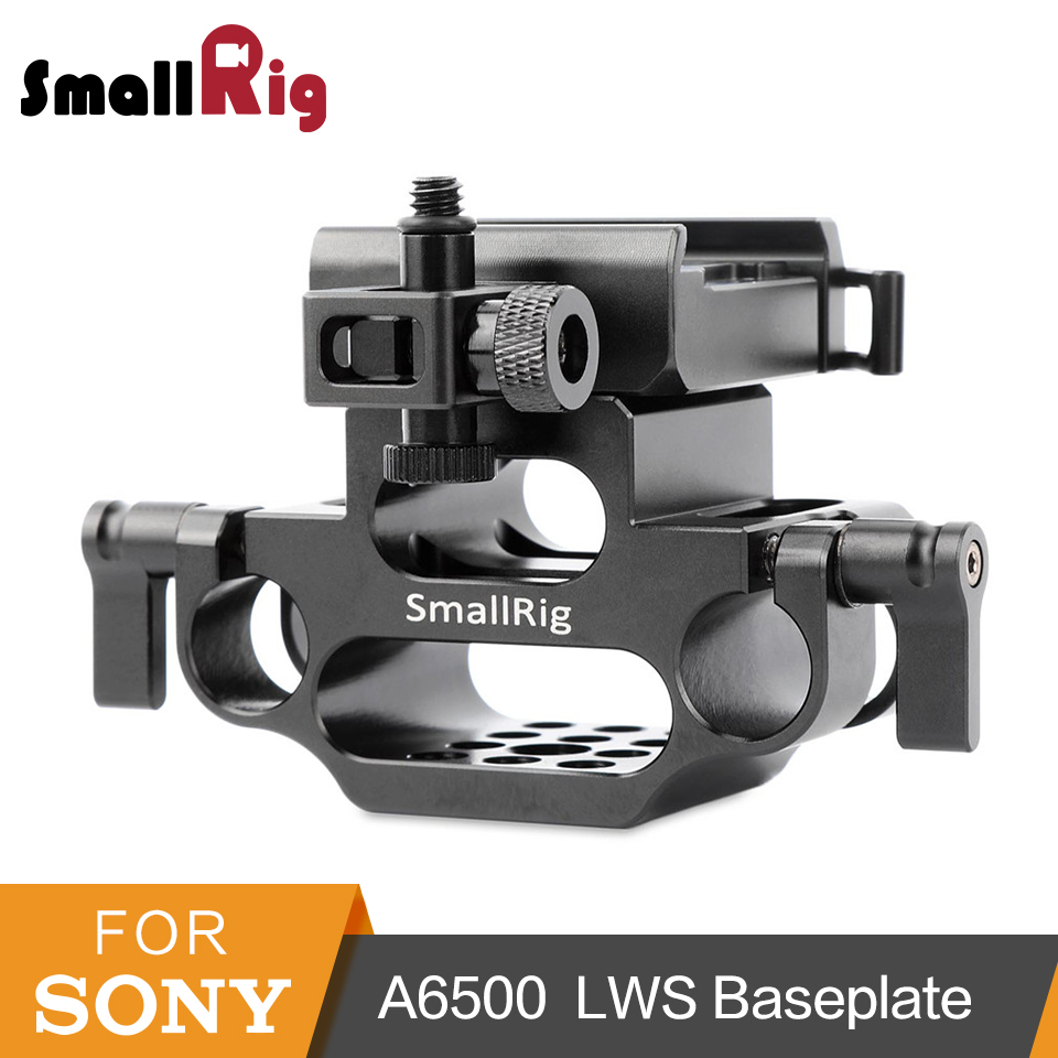 лучшая цена SmallRig 15mm Rod Clamp LWS Baseplate with Arca Style Dovetail Clamp for A6500 Camera Cage 1889 Camera Quick Release Plate-1934