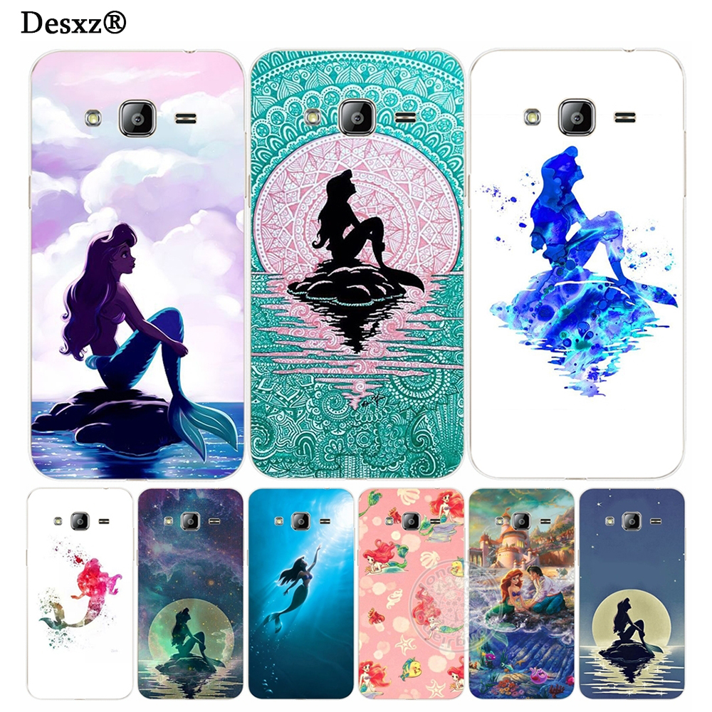 Desxz Ariel little mermaid cover phone case for Samsung Galaxy J1 J2 J3 J5 J7 MINI ACE 2016 2015