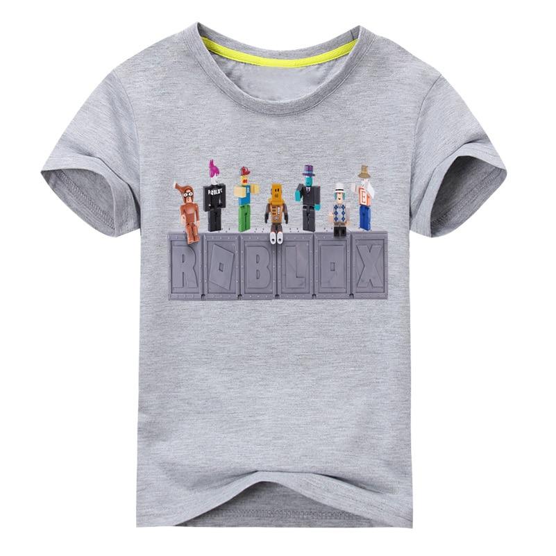 Kids Clothes Boys Summer Roblox Games Print T-shirt Girls Tee Tops Clothing Children Cartoon T Shirt Costume Baby Tshirt DX105 Футболка