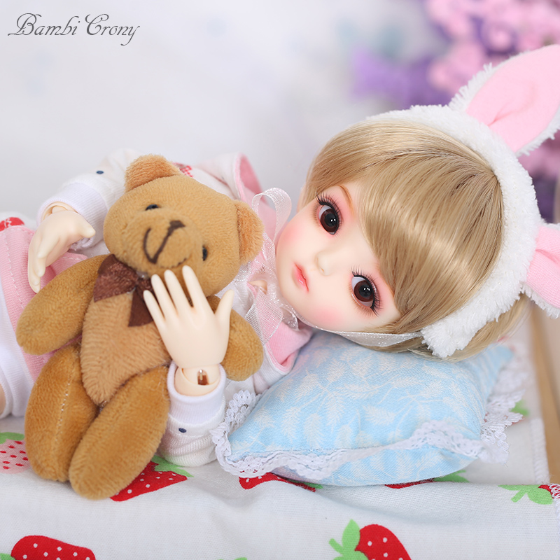 OUENEIFS BambiCrony Vanilla BJD SD Resin Doll 1/6 Body Model Girls Boys Toys Eyes High Quality Gifts For Birthday Or Christmas dc erwin bjd sd doll 1 3 resin body model baby girls boys toys gift for birthday or christmas doll chateau