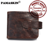 Luxury Genuine Leather Retro 2 Different Sizes Leisure Men Wallets Male Small Wallet Coin Purse Card
