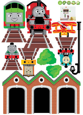 Thomas The Tank Friend Window Train Wall Sticker Decor Decals Removable Art  Kids(China (