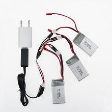 7.4V 1000Mah Lipo Battery 3pcs and charger For WLToys V262 V333 V353 V912 V915 FT009 FT007 DEVO4 RC Helicopter parts