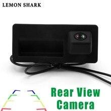 RCD330 Plus MIB AV камера заднего вида с ручкой HD Широкий угол заднего вида парковки автомобиля Обратный для VW TIGUAN Passat B6 B7 Golf 5/6