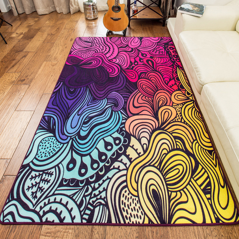 160230cm Large Size High Quality Colorful Rugs And Carpets Area Rug For Living Room