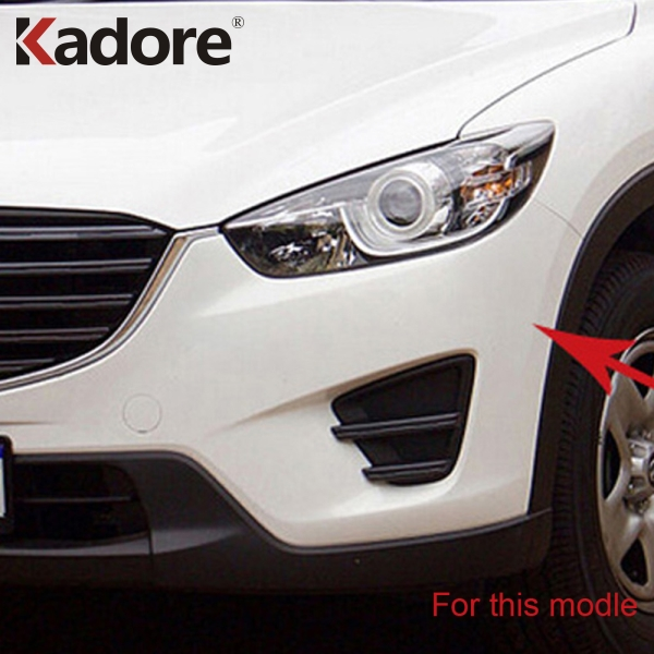цена на For Mazda CX5 CX-5 2015 2016 ABS Chrome Front Grille Trim Racing Grills Frames Decoration Car Exterior Accessories