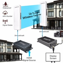 Wireless 1080P HDMI Extender With 3.5mm Audio Extractor IR Control Support POE Function Outdoor 3KM Indoor 300m Wireless TX RX