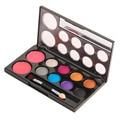 De alta Calidad de La Manera de 8 Colores de Sombra de Ojos y 2 Colores Colorete En Polvo de Maquillaje Cosméticos Paleta de Herramientas