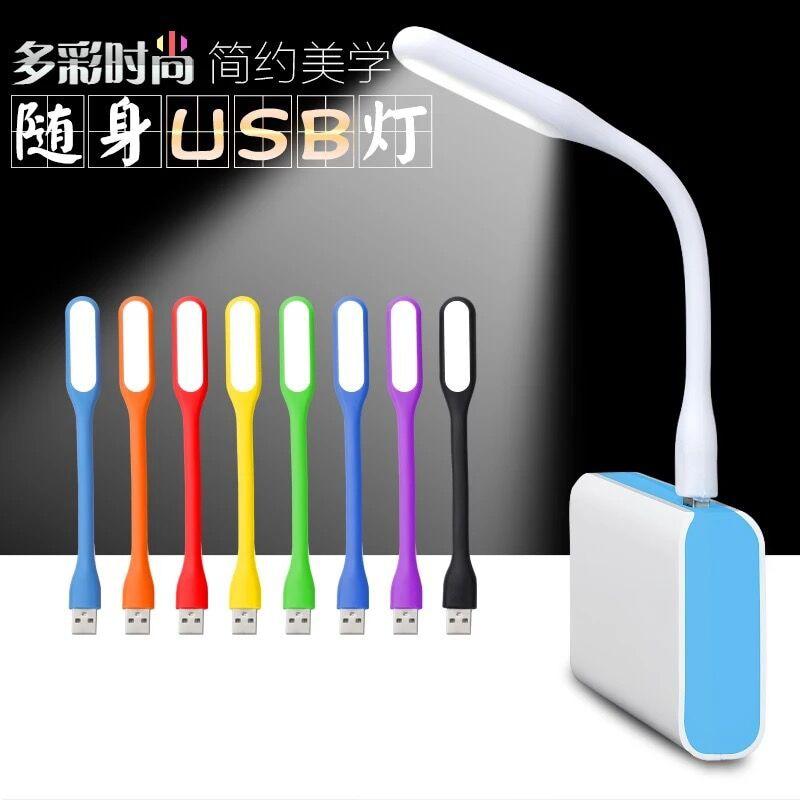 Experto Lámpara De Escritorio Pequeña Móvil Blanca/azul Usb Para Banco De Energía/luces Led