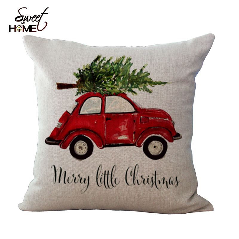 Buy 18 square cotton linen sofa for Where can i buy a red christmas tree