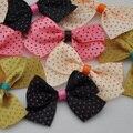 40 шт. сатиновая цветы на лентах с аппликациями ремесла Сделай Сам Свадебные B60 - фото