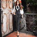 dabuwawa harem overalls fall 2016 autumn new fashionable stripe OL temperament high waist full pants women pink doll