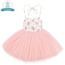 4 Layers Tulle Grils Dresses With Vintage Floral Cute Sweet Summer Party Wedding Special Occasi Princess For Kid Clothes