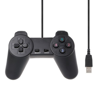 Wired Gamepad USB Game Controller Gaming Joypad Joystick Control for PC Computer Laptop Gamer Black Game Console Boy Gift