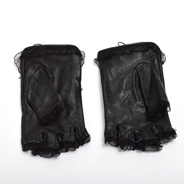Black Steampunk Gloves – Diva's Grip