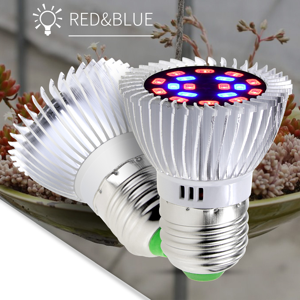 Wenni E27 Grow Led Light For Plant E14 Greenhouse Tent Full Spectrum Led Bulb 18w Phyto Lamp Led Indoor Growing Lamp Hydroponics