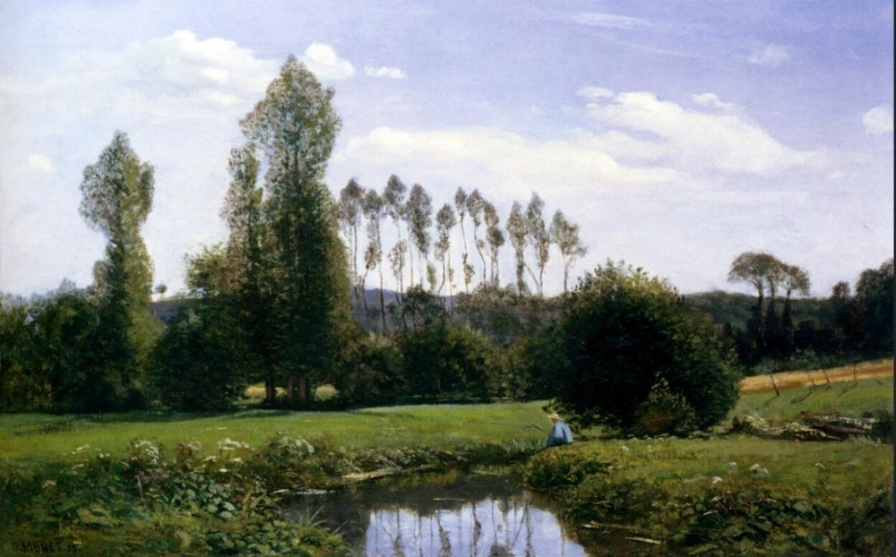 High quality Oil painting Canvas Reproductions View At Rouelles Le Havre (1858) By Claude Monet hand paintedHigh quality Oil painting Canvas Reproductions View At Rouelles Le Havre (1858) By Claude Monet hand painted